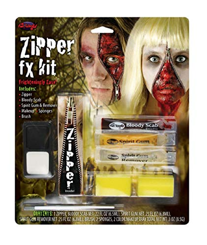 Zombie Zipper Face FX Halloween Makeup