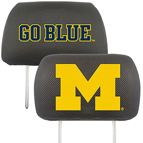 University of Michigan Head Rest Cover (Set of 2)