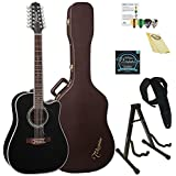 Takamine EF381SC-KIT-2 12-String Dreadnought Acoustic-Electric Guitar with Hard Case & ChromaCast Accessories