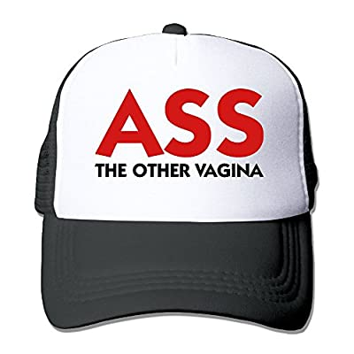 SHINENGST Ass - The Other Vagina Mesh Trucker Caps/Hats Adjustable For Unisex Black