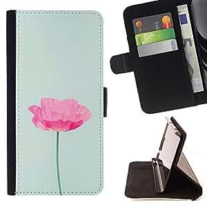 King Art - Premium-PU-Leder-Prima caja de la PU billetera de cuero con ranuras para tarjetas, efectivo Compartimiento desmontable y correa para la mu?eca FOR Samsung GALAXY G850 SM-G850F G850Y G850M- Flower Rose