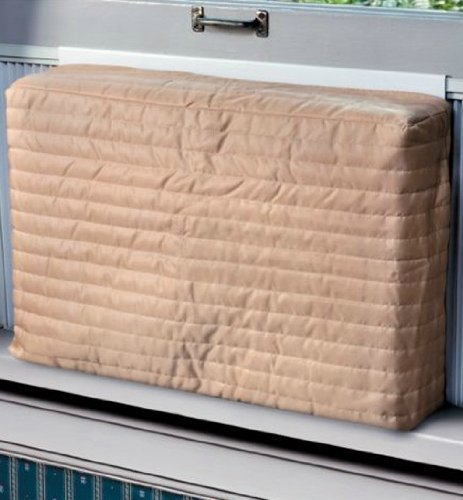 Indoor Air Conditioner Cover (Beige) (Small - 12 -14H x 18 -21W x 2D)