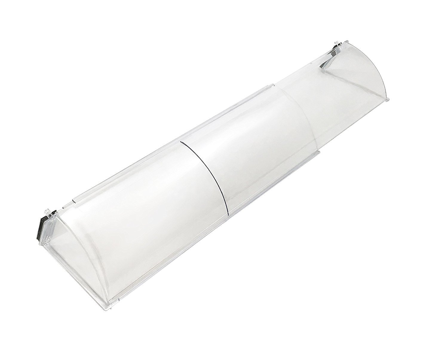 """Frost King HD11 Baseboard Air Deflector, Expands from 15"""" to 25"""", Adjustable, Clear Plastic"""