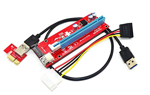 Underground Water Storage (Panto Version 7 SATA Powered PCI-E PCI Express Riser - VER 007S - 1X to 16X PCIE USB 3.0 Adapter Card - With USB Extension Cable - GPU Graphic Card Crypto Currency Mining (1 pack))