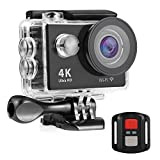 #9: Nexgadget 4K WIFI Action Camera, EXPLORER5 Series Waterproof DV Camcorder 12MP 170 Degree Wide Angle with 2.4G Remote Control for action sports camera 2 Rechargeable Batteries