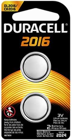 Duracell 2016 Coin Button Batteries, 2 Count