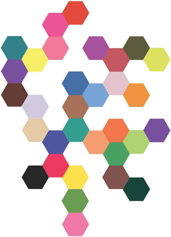 32 Mod Solid Color Hexagon Wall Decals Stickers Repositionable Peel And Stick Home Kitchen