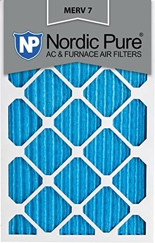NORDIC Pure 18x 25x 1m7–6MERV 7Bundfaltenhose AC Ofen Air Filter, 18x 25x 1, Box of 6 Pure