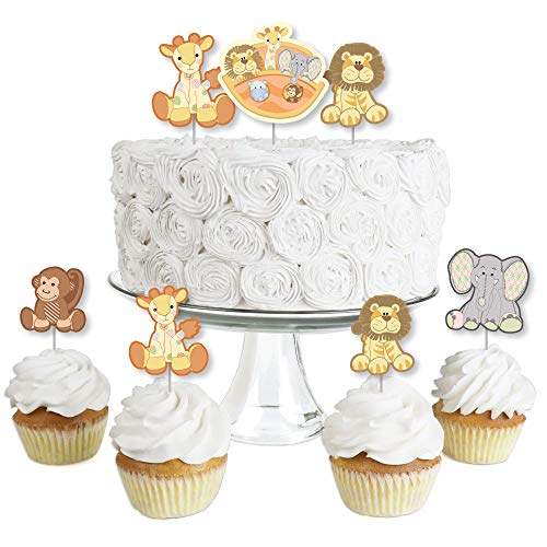 Noah's Ark - Dessert Cupcake Toppers - Baby Shower Clear Treat Picks - Set of ()