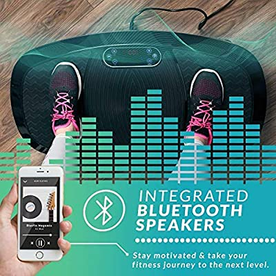 Bluefin Fitness Dual Motor 3D Vibration Platform | Oscillation, Vibration + 3D Motion | Huge Anti-Slip Surface | Bluetooth Speakers | Ultimate Fat ...