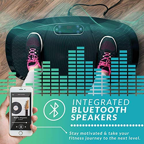 Bluefin Fitness Dual Motor 3D Vibration Platform   Oscillation, Vibration + 3D Motion   Huge Anti-Slip Surface   Bluetooth Speakers   Ultimate Fat Loss   Unique Design   Get Fit at Home by Bluefin Fitness (Image #3)