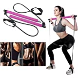 goldflower Pilates Bar Kit with Resistance Bands, Yoga Resistance Bands for Legs and Butt, Portable and Elastic Pilates Exercise Stick for Full Body Workout