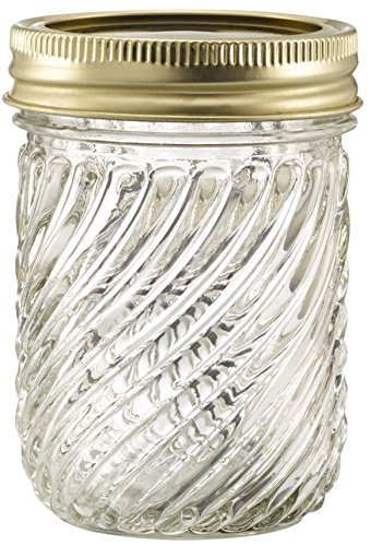 Glass Jelly Jars with Lids and Bands, Set of 12 (8 Oz) (Other Sizes and Designs Available) -