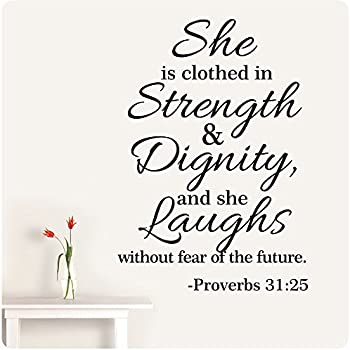 Amazon Com 32 Quot Proverbs 31 25 She Is Clothed In Strength