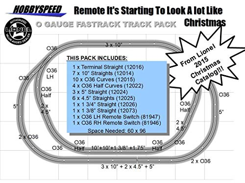 LIONEL FASTRACK Starting to Look A LOT Like Christmas Track Layout w/Remote - Track Remote Switch Rh