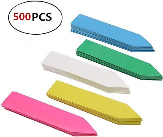 REYOK 500 PCS Plastico Plantas Etiquetas Semilla De Estacas Marcador De Crisol Jardín De Vivero Estaca con Rotulador, Multicolor: Amazon.es: Jardín
