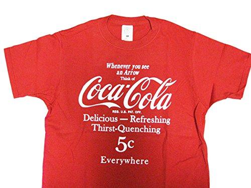 認める感動するバウンドCoca-Cola/コカコーラ プリントTシャツ/レッド(CC-VT10-RD) コカコーラブランド USA アメカジ ブランド ドリンク アメリカン雑貨 アメリカ雑貨 コカコーラ