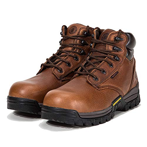 ROCKROOSTER Work Boots for Men, Composite Toe, Waterproof Resistant, Kevlar Puncture, Safety Shoes,Ventilated, Breathable Perfect for Hot Weather, EEE-Wide (AT697Pro Brown 13 AM) - Puncture Waterproof