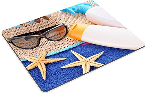 Mousepads Holiday concept on the blue beach towel IMAGE 31196116 by MSD Mat Customized Desktop Laptop Gaming Mouse Pad