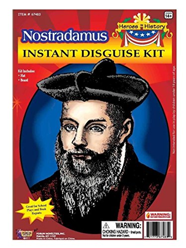 Forum Novelties Men's Heroes In History Nostradamus Instant Disguise Kit, Multi, One Size