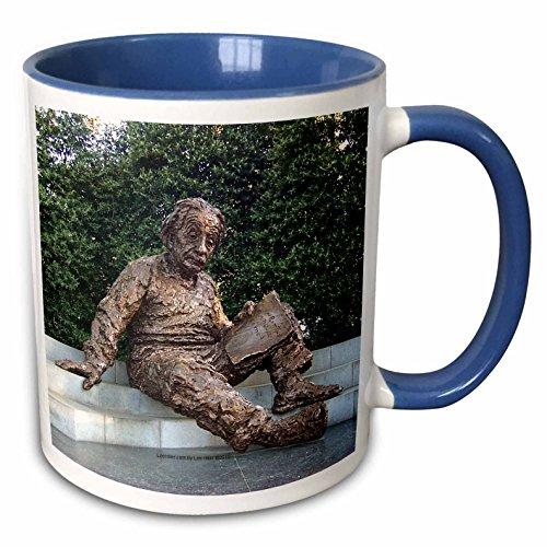 3dRose Lee Hiller Photography Washington DC - Albert Einstein Memorial - 11oz Two-Tone Blue Mug (mug_5014_6)