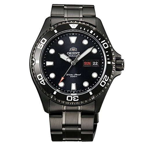 Orient Ray Raven II Black PVDl Automatic Dive - Black Pvd Watch