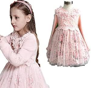 فستان زهري -بنات