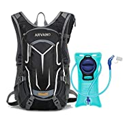 Arvano Hydration Backpack, Bike Backpack with 2l(70 Oz) Water Bladder, Lightweight Rucksack for Cycling Running Hiking…