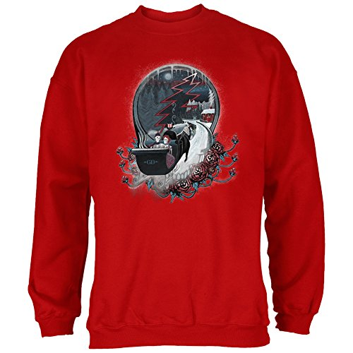Grateful Dead - Mens Winter Sleigh Crew Neck Sweatshirt Medium Maroon (Sleigh Mickey)