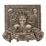 Cerridwen Celtic Goddess Inspiration Knowledge Transformation in Gray Stone and Hand Painted Details Wall Plaque