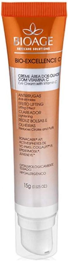 Anti Idade Bioage Bio Excellence C Creme Área dos Olhos com Vitamina C 15g