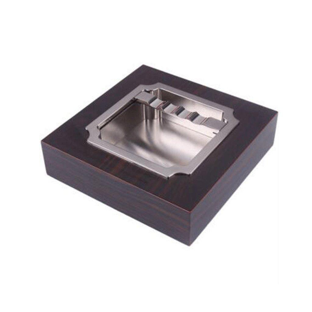 weiwei WEI Liner en Alliage d'aluminium en Bois Massif, cendrier carré en Cuir (Couleur : B, Taille : L) cendrier carré en Cuir (Couleur : B