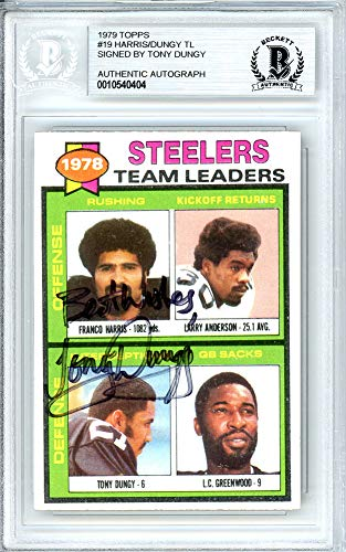 - Tony Dungy Signed Auto 1979 Topps Rookie Card #19 Pittsburgh Steelers - Beckett Certified