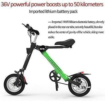 IG Mini bicicleta eléctrica plegable de 36 V para batería de litio ...