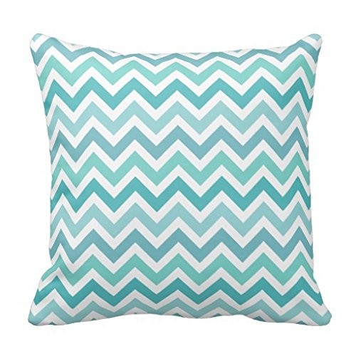 Turquesa Aqua azul color funda de almohada 90s geométrico ...