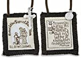 "1 X Brown Scapular - ""Behold the Sign of Salvation"""