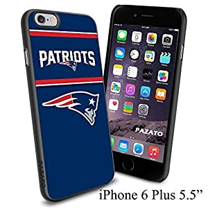 """NFL NEW ENGLAND PATRIOTS , Cool iPhone 6 Plus (6+ , 5.5"""") Smartphone Case Cover Collector iphone TPU Rubber Case Black"""