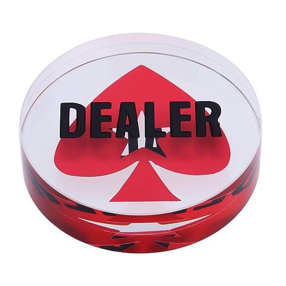 transparenter Poker-Spielstein mit der Inschrift Dealer SmartDealsPro