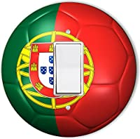 Rikki Knight RND-LSPROCK-65 Portugal Team World Cup Flag Soccer Ball Football Round Single Rocker Light Switch Plate