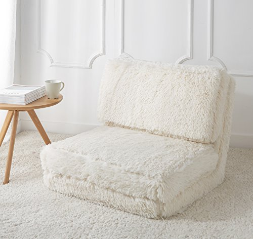 Urban Shop Faux Fur Convertible Flip Chair, White Review