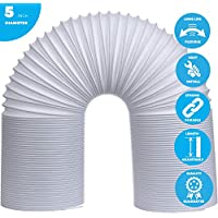 Nicetech Portable Air Conditioner Exhaust Hose - 5 inch Diameter - AC Exhaust Hose 59 Inch Length Universal Counterclockwise Thread Portable Air Conditioner Exhaust Hose Extremely Flexible & Durable