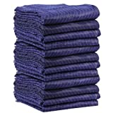 72'' X 80'' TruePower Moving Blankets (12-Pack) - Econo Saver (52 lbs/dozen, Blue/Blue)