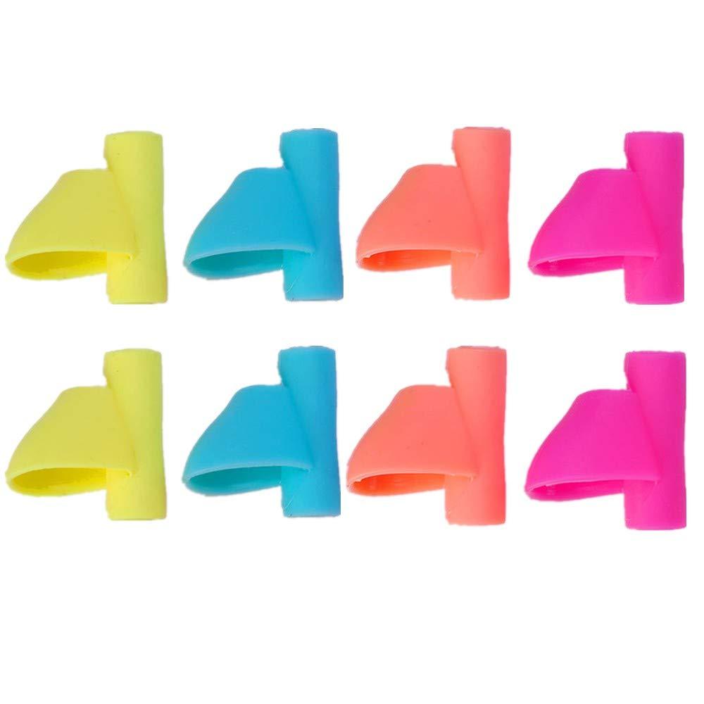 BYou Pencil Grips,Herramienta de Corrección de Postura de Agarre para Escritura de Bolígrafos 8 Piezas Multicolor Silicona Suave Titular de Lápiz para Niños ...