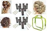 ALAZCO 14 pc Vintage Style Hair Roller Medium BRUSH