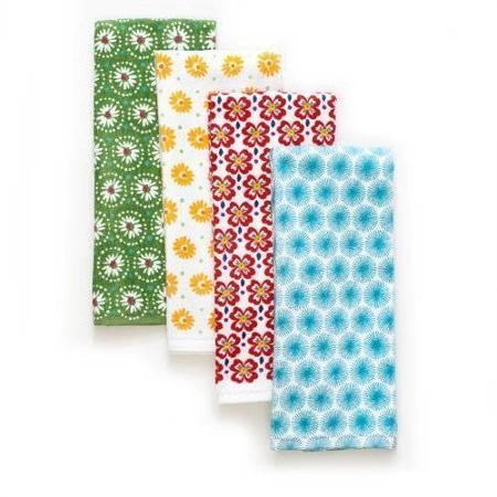 The Pioneer Woman Flea Market Kitchen Towel Set, 4pk, Print
