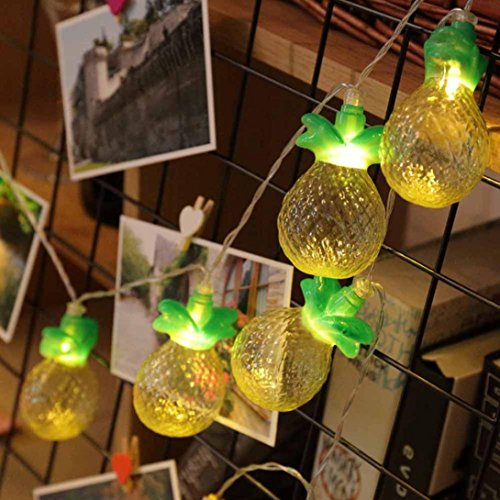 Pineapple String Light-10LEDs Pineapple String Light LED Novelty Fairy Lights Battery Powered Lantern Bubble Ball Lights for Christmas Home Wedding Party Bedroom Birthday Decoration