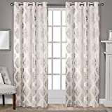 Best Exclusive Home Curtains Home Fashion Curtains Whites - Exclusive Home Augustus Metallic Light Filtering Window Curtain Review