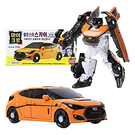 Hello Carbot Micro Veloster Sky Transformer Robot Car Toy Figure Scale 1:53