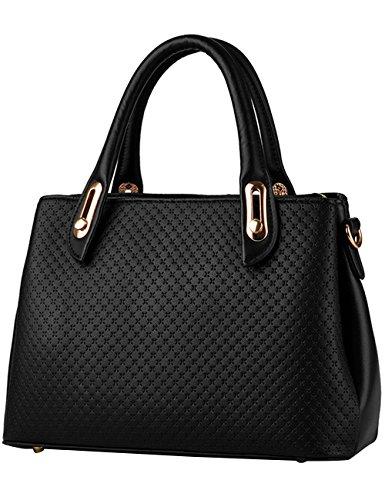 Menschwear Handbag Bolsos De Moda Hombro Diagonal Paquete Bolso Ladies Negro Negro
