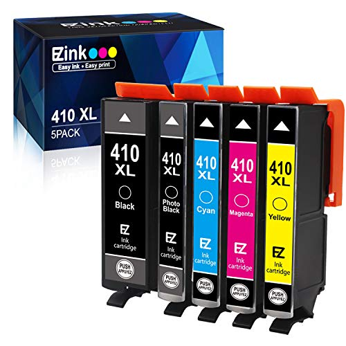E-Z Ink (TM) Remanufactured Ink Cartridge Replacement for Epson 410XL 410 XL T410XL to use with Expression XP-7100 XP-530 XP-630 XP-635 XP-640 XP-830 (Black, Cyan, Magenta, Yellow, Photo Black) 5 Pack (Best Price For Epson Ink Cartridges)